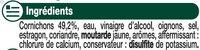 Cornichons extra-fins au vinaigre - Ingrediënten - fr