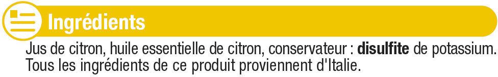 Jus de citron jaune - Ingrédients - fr