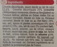 Crevettes sauce Thaï et riz basmati - Ingrédients - fr