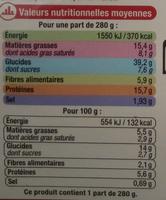 Crevettes sauce Thaï et riz basmati - Informations nutritionnelles - fr