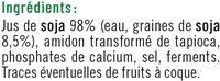 Spécialité fermentée au soja nature - Ingrédients - fr