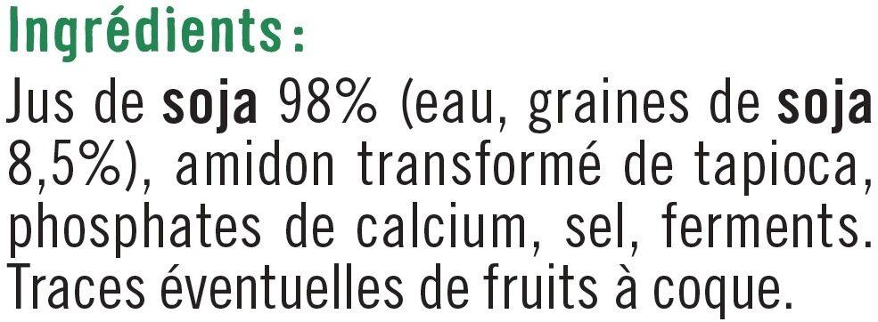 Spécialité fermentée au soja nature - Ingrediënten - fr