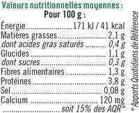 Spécialité fermentée au soja nature - Informations nutritionnelles - fr