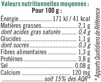 Spécialité fermentée au soja nature - Voedingswaarden - fr