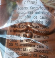 Cloche chocolat - Ingrediënten
