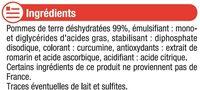 Purée nature - Ingrédients - fr
