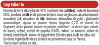 Tuiles goût paprika - Ingredients