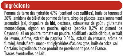 Tuiles goût paprika - Ingrédients - fr