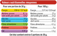 Tuiles goût paprika - Nutrition facts