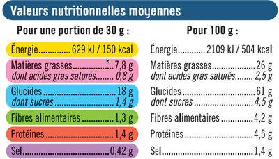 Tuile goût salé - Voedingswaarden - fr