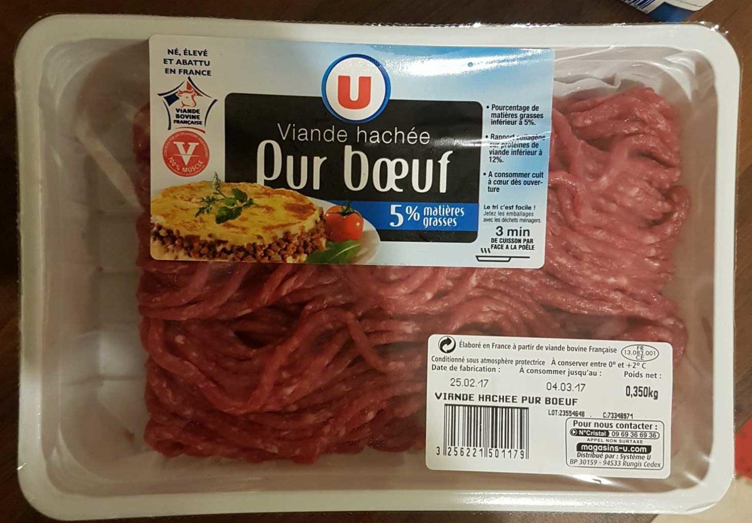 Viande hachée Pur Bœuf 5% M.G. - Product