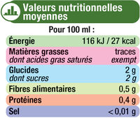 Jus de citron vert - Voedingswaarden - fr