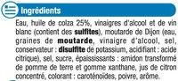 Vinaigrette nature en matières grasses - Ingrédients - fr