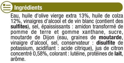 Vinaigrette allégée en matières grasses à l'huile d'olive 13% et au citron - Ingredients