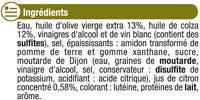 Vinaigrette allégée en matières grasses à l'huile d'olive 13% et au citron - Ingrédients - fr