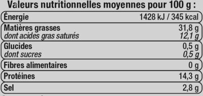 Mortadelle Italienne - Informations nutritionnelles - fr