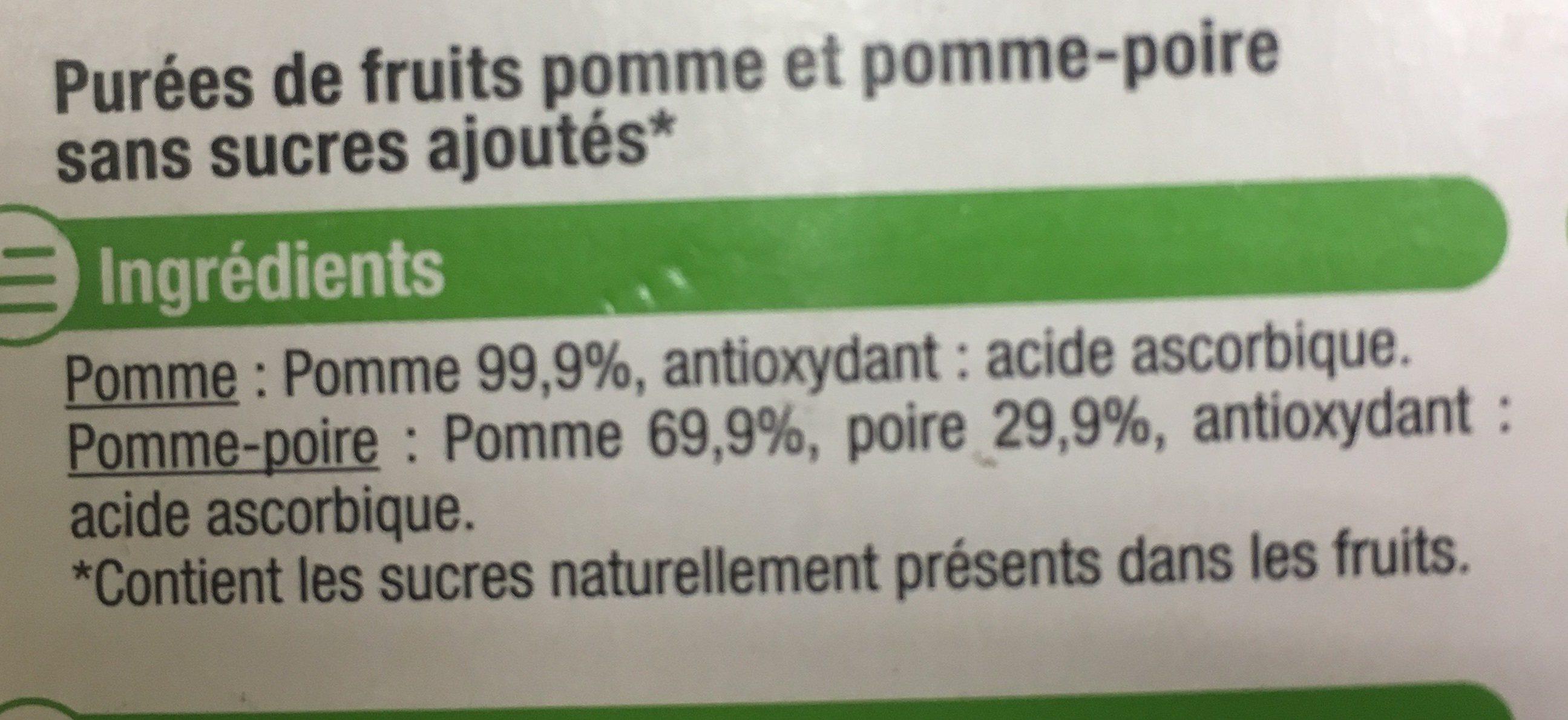 Compote de pomme et poire - Ingrediënten