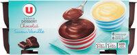 Crème dessert saveurs panachées chocolat-saveur vanille - Produit - fr