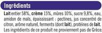 Yaourt à la grecque brassé sucré sur préparation mûres - Ingredients - fr