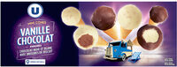 Minis cônes vanille chocolat - Produit - fr
