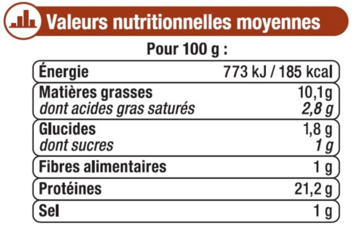 Grignotte de poulet rôtie goût mexicain - Informations nutritionnelles - fr