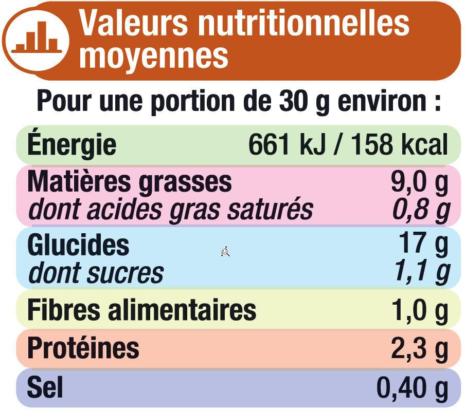 Croûtons ronds frits pour soupe saveur fromage - Пищевая и энергетическая ценность - fr