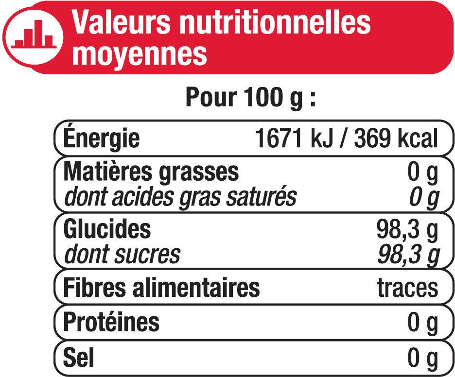 Sucre spécial confiture - Nutrition facts