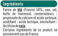 Feuilles de brick - Ingrédients - fr
