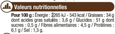 Chips ondulées easy - Nutrition facts