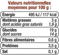 Semoule au lait à la vanille - Nutrition facts - fr