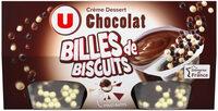Crème dessert au chocolat et billes au chocolat - Produit
