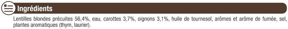 Lentilles cuisinées - Ingredients - fr