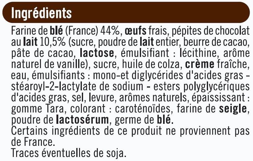 Brioche tressée aux pépites de chocolat au lait - Ingredients