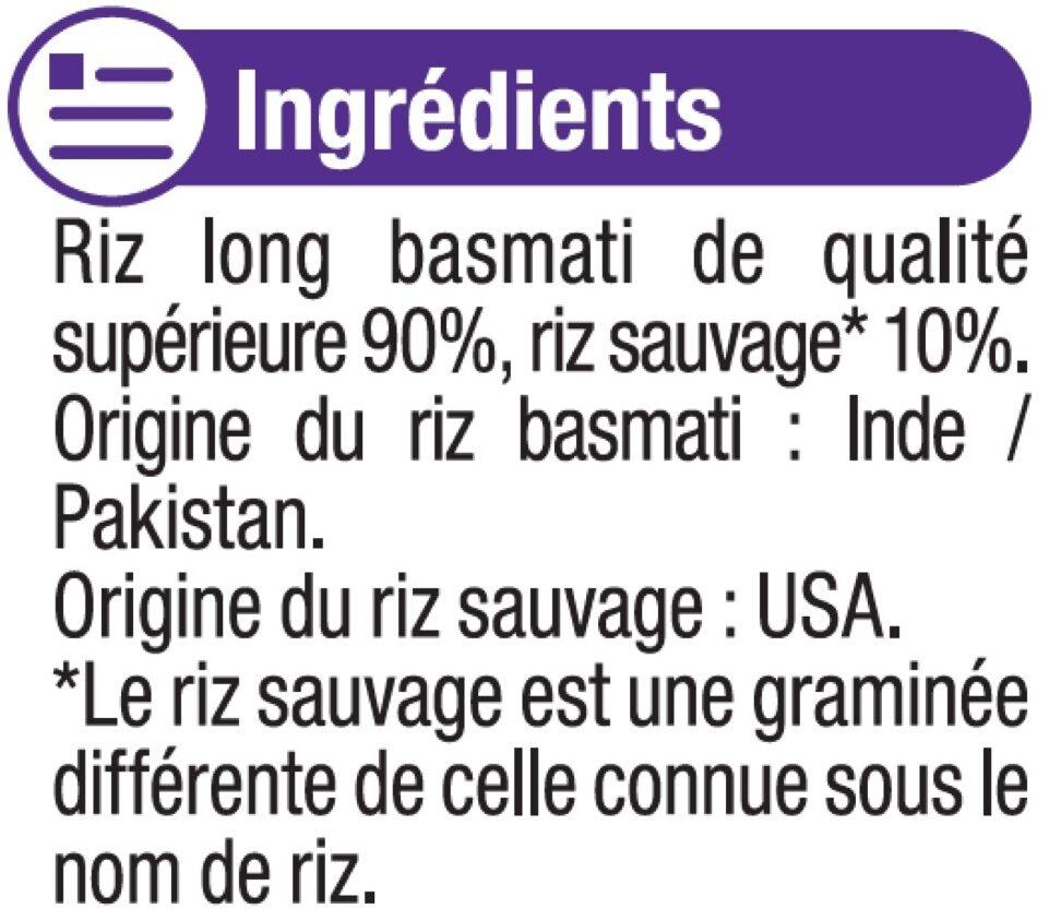Mélange riz basmati et sauvage - Ingrédients - fr