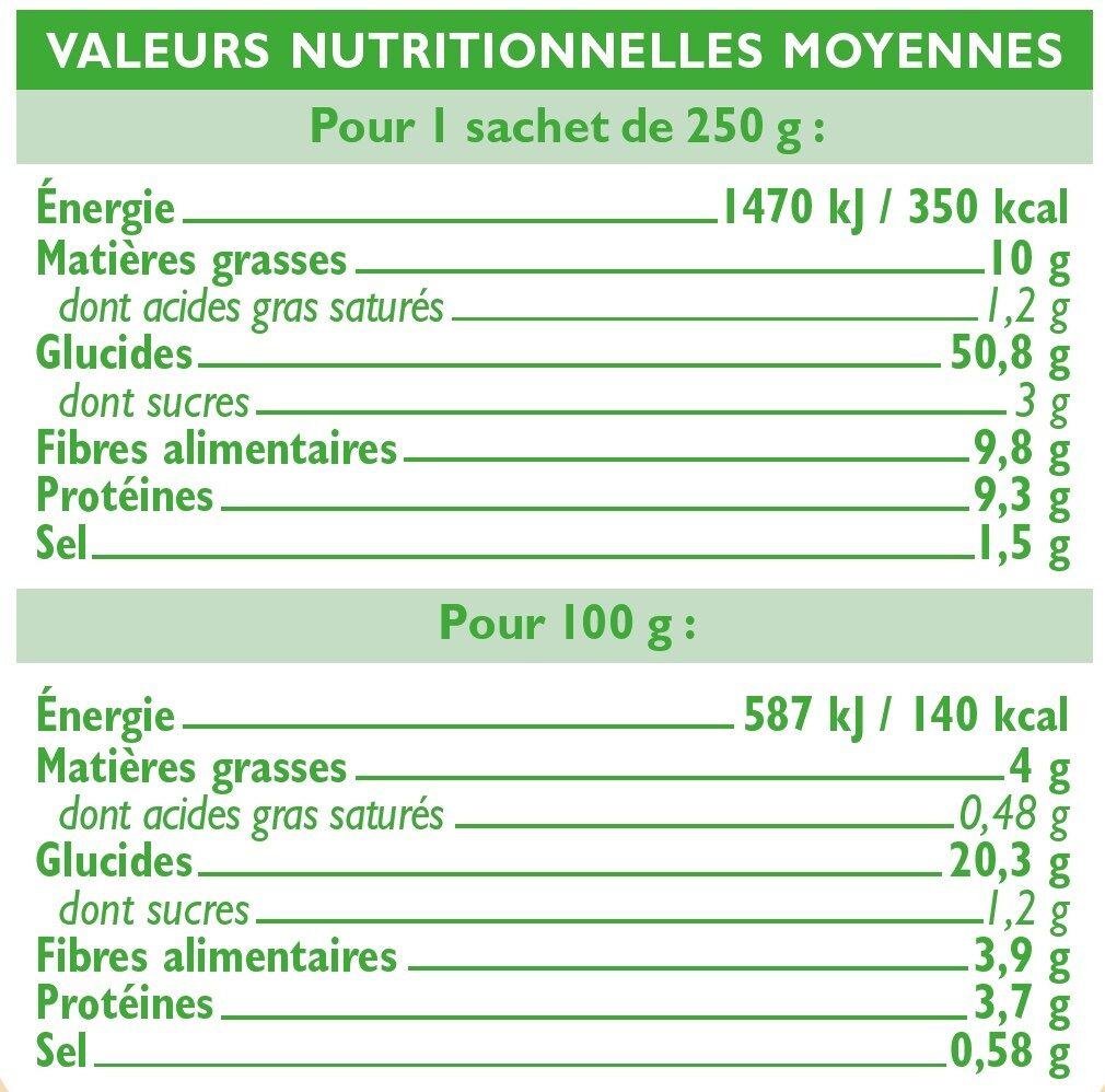 Quinoa nature - Voedingswaarden - fr