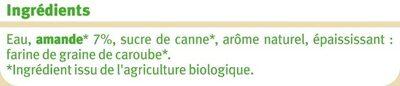 Boisson amande intense - Ingrédients - fr