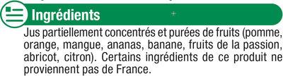 Jus à base de concentré multifruits - Ingrédients - fr