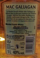 blended Scotch whisky - Nutrition facts