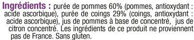 bols à la pomme et au coing - Ingrédients - fr