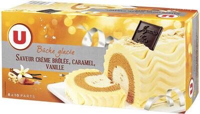 Bûche glacée parfum crème brûlée, caramel vanille - Product - fr