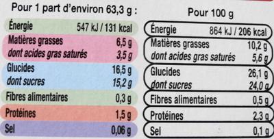 Bûche glacée parfum crème brûlée, caramel vanille - Nutrition facts - fr