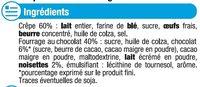 Crêpes fourrées au chocolat U_MAT_ET_LOU - Ingrédients - fr