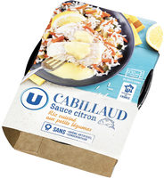 Cabillaud sauce citron et riz aux petits légumes - Product