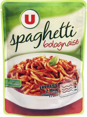 Spaghetti bolognaise micro-ondable 2' - Product - fr