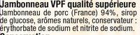 Jambonneau qualité supérieure - Ingrediënten - fr