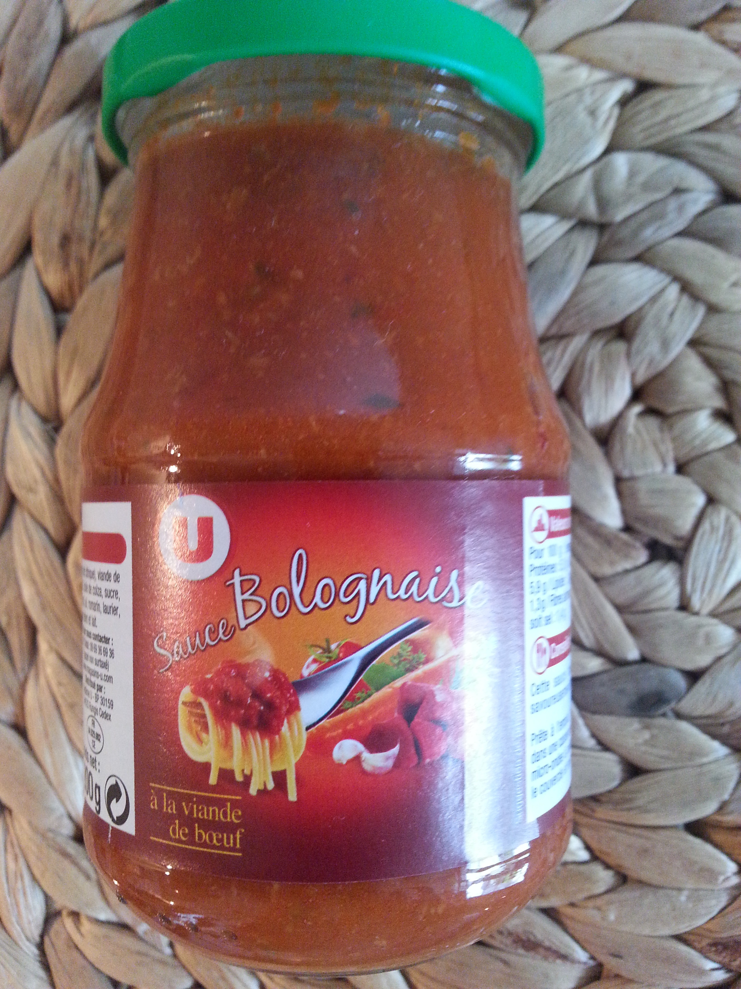 Sauce bolognaise à la viande de boeuf - Produit