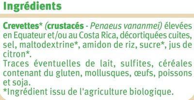 Crevettes cuites et décortiquées - Ingrediënten - fr