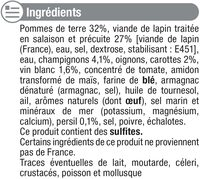 Lapin chasseur - Ingredients - fr