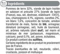 Lapin chasseur - Ingrédients - fr