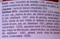 Cassoulet - Charcuterie Pur Porc - Ingrédients